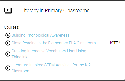 Literacy in Primary Classrooms Playlist