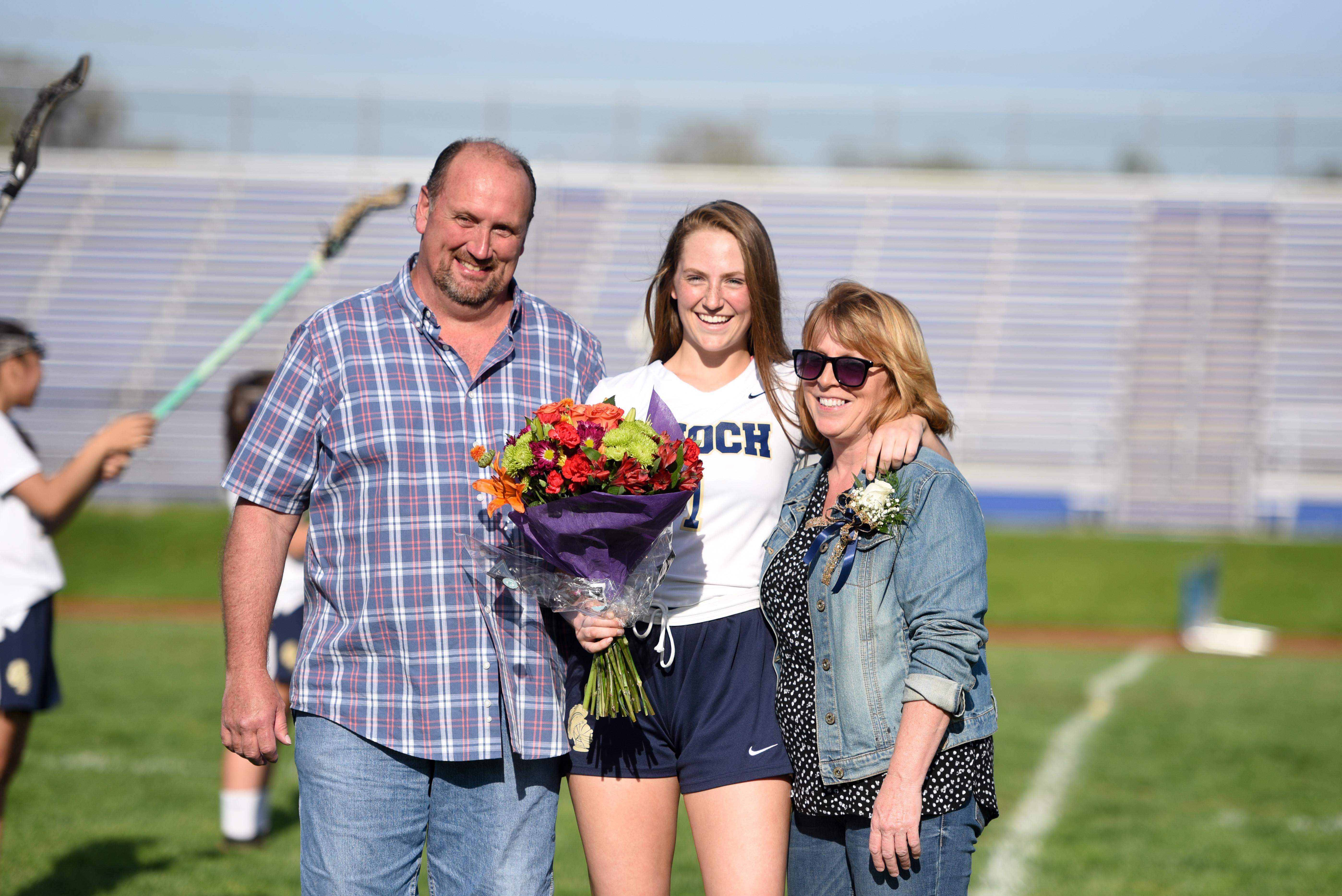 Pic of Kelly Wesolosky and parents