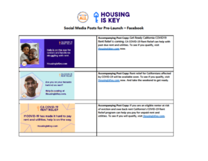 Housing is Key flyer