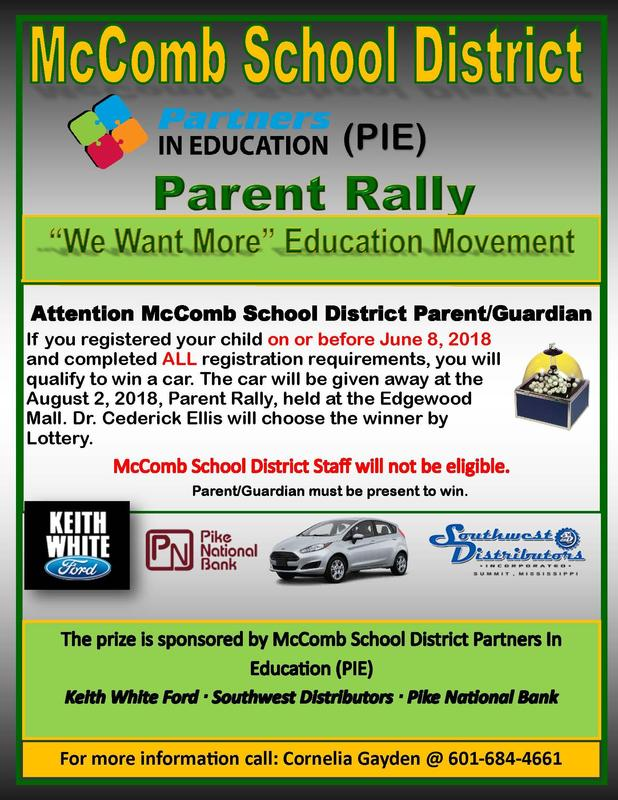 Partners In Education Sponsors Parent Rally.