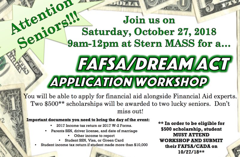 2018 FAFSA WORKSHOP Thumbnail Image