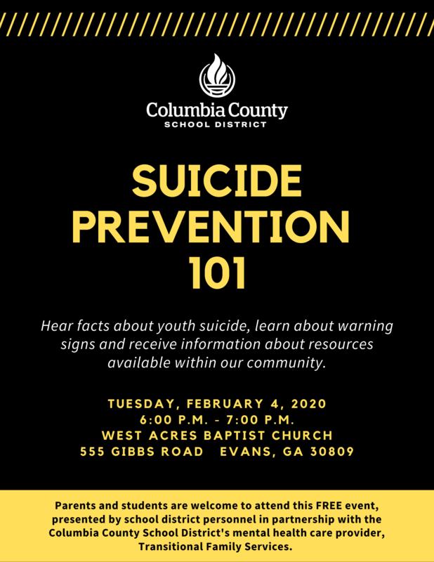 Suicide Prevention 101