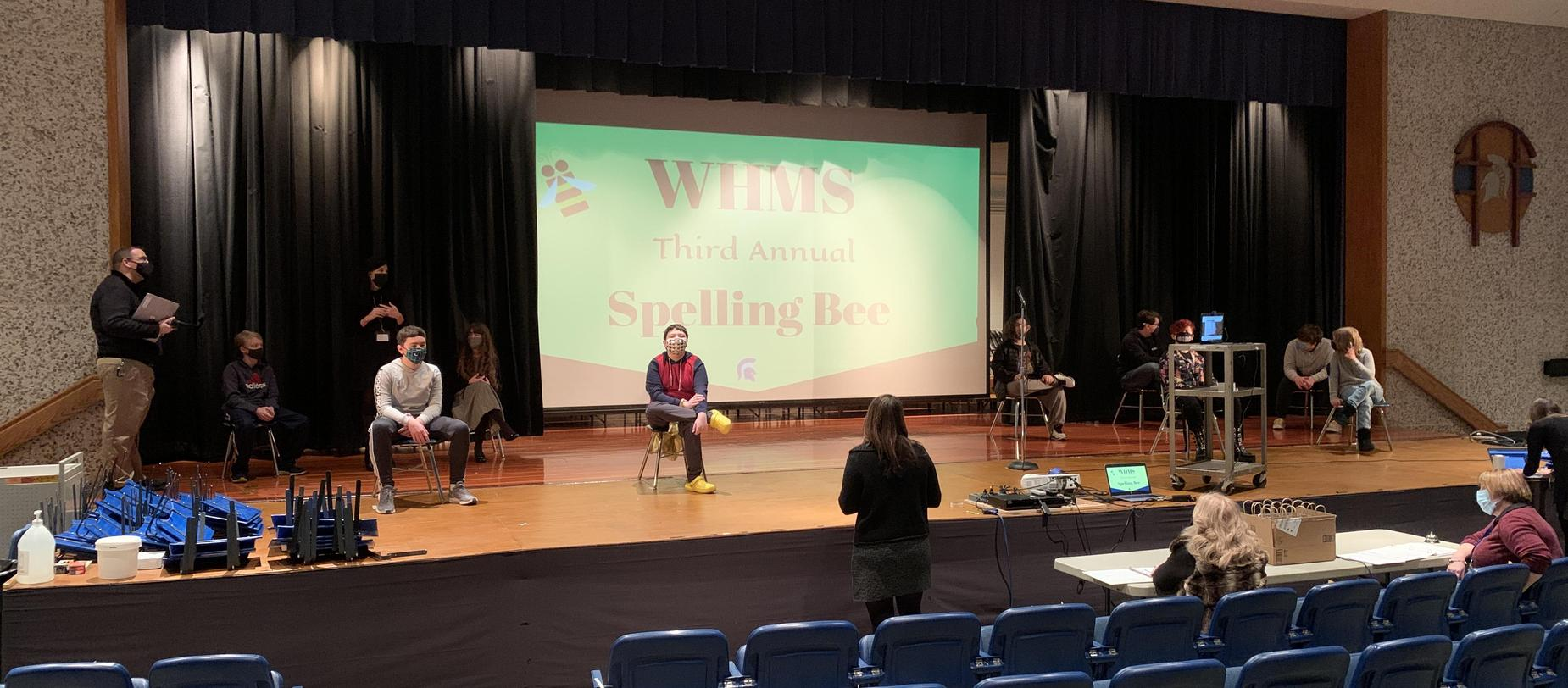 Final directions before the spelling bee begins!