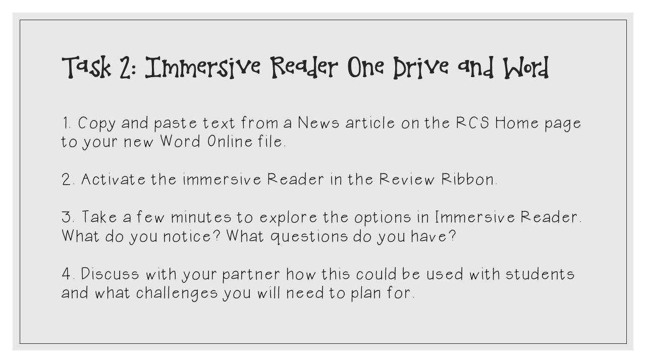 Microsoft Accessibility Tools: Immersive Reader