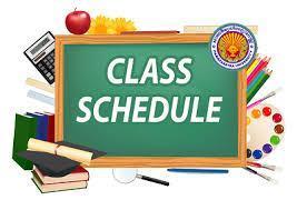 Class Schedule request