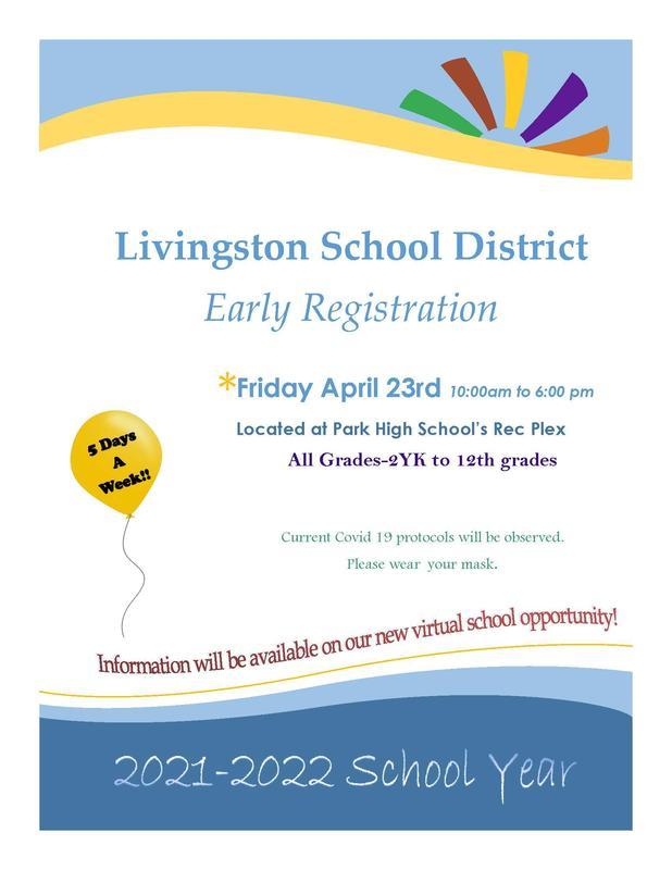 Preregistration flyer announcing the April 23rd preregistration event