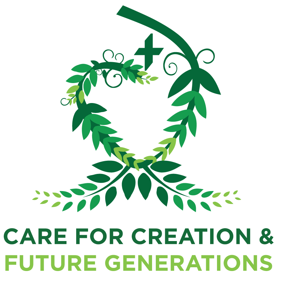 Duchesne Sustainability Logo 'Care for Creation and Future Generations'