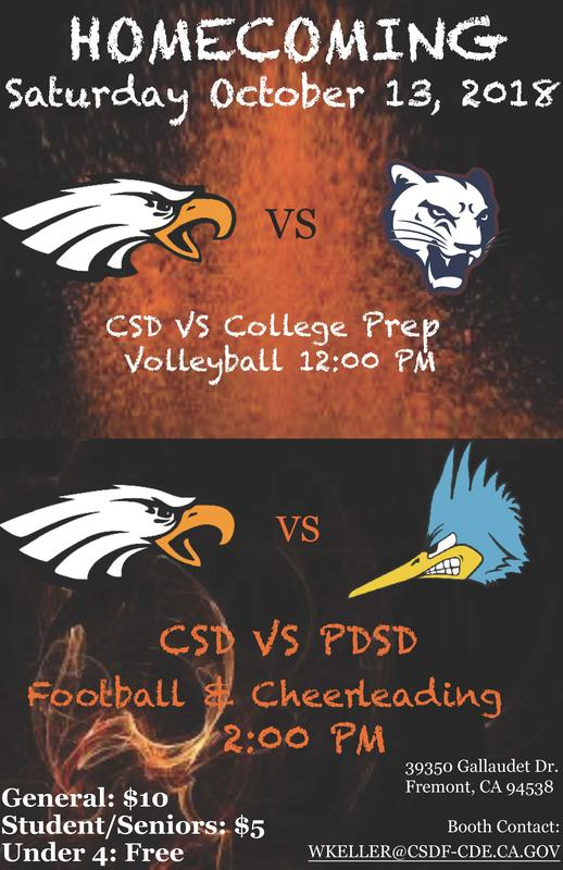 Homecoming, October 13, General $10, Students/Seniors $5, Under 4 FREE