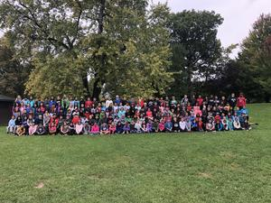 5th Grade Class Photo at Camp Duncan