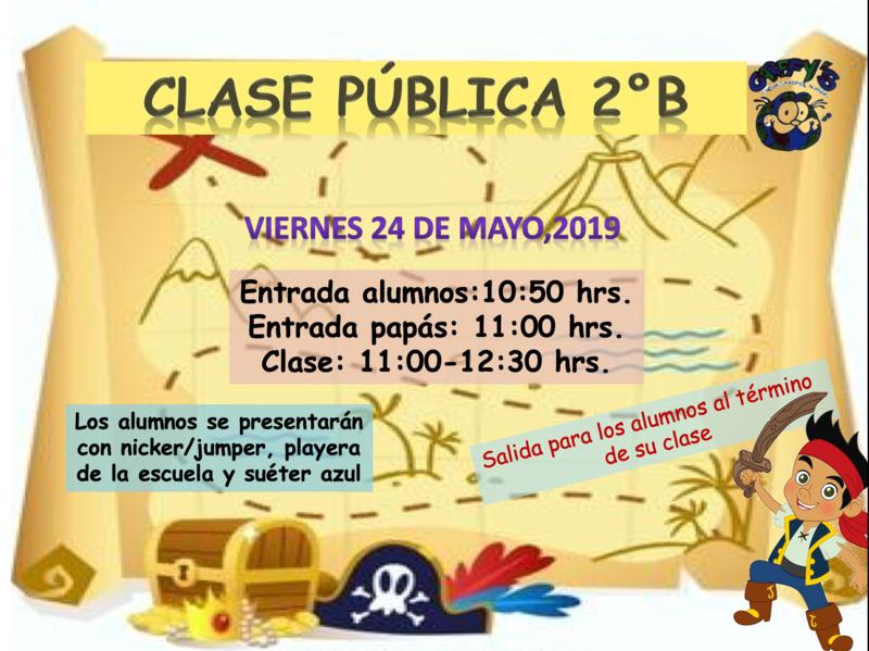 INVITACIÓN C.P. 2º DE PREESCOLAR B Featured Photo