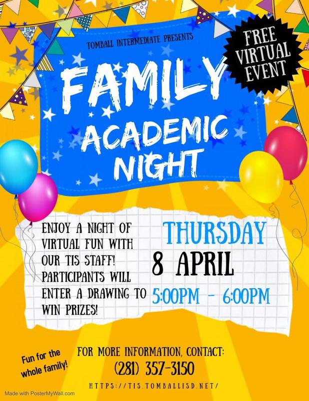 Family Academic Night Flyer