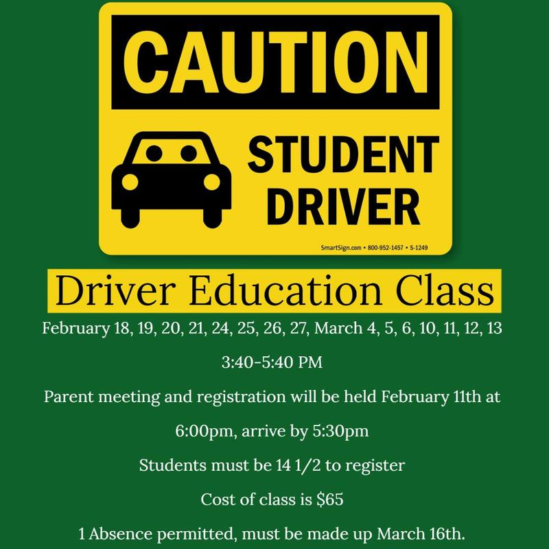 Spring Driver Education Classes Thumbnail Image