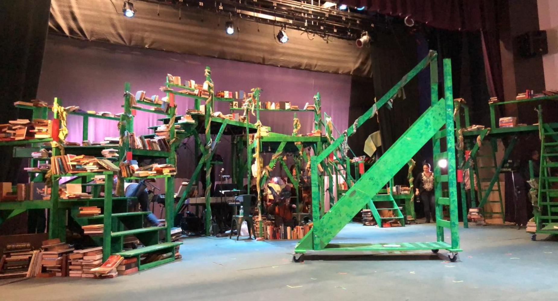 The set of Beacon's Production of Into The Woods