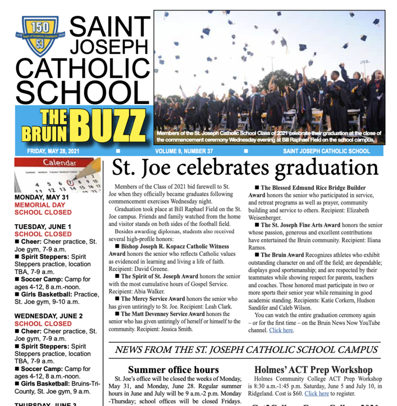 THE BRUIN BUZZ, FRIDAY, MAY 28, 2021 Featured Photo