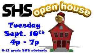 SHS Open House Tuesday Sept. 10th  4p - 7p