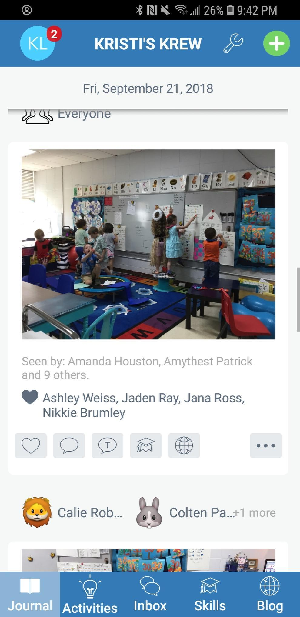 Students Using SeeSaw in the Class