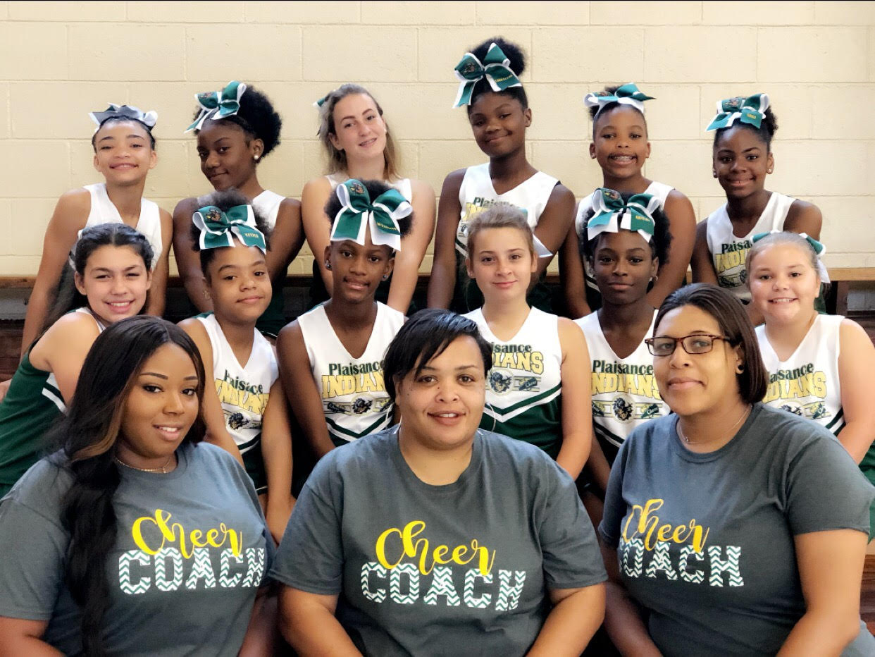 2019-2020 cheerleaders and their coaches