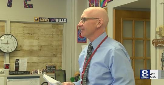 4th grade teacher Mr. Driscoll