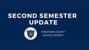 Second semester schedule beginning Jan. 19