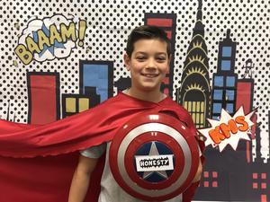 pic of Dante Pelloni in superhero outfit