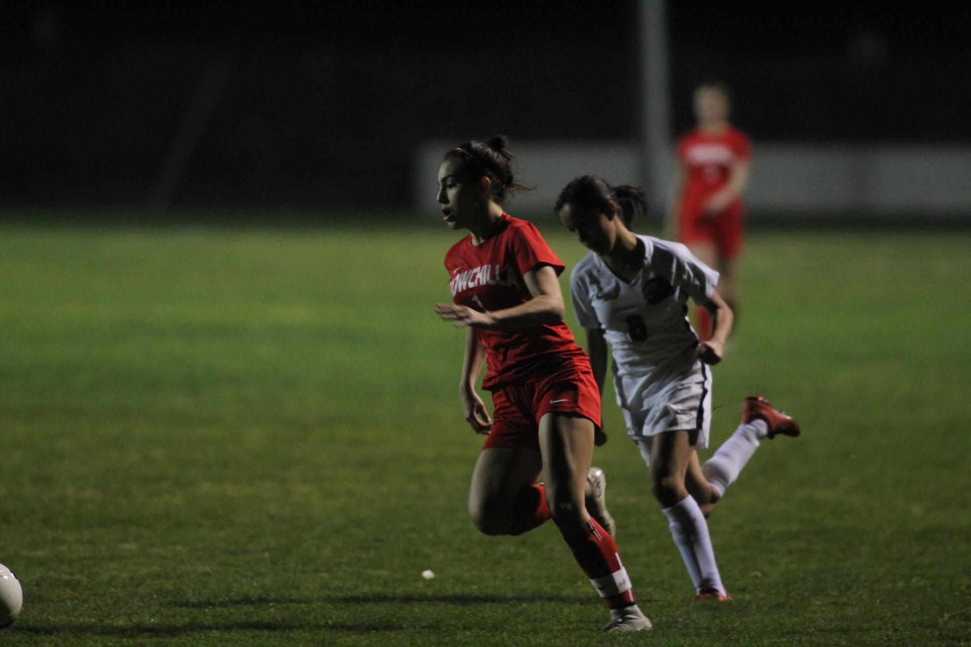 Girls Playing Soccer vs Kerman
