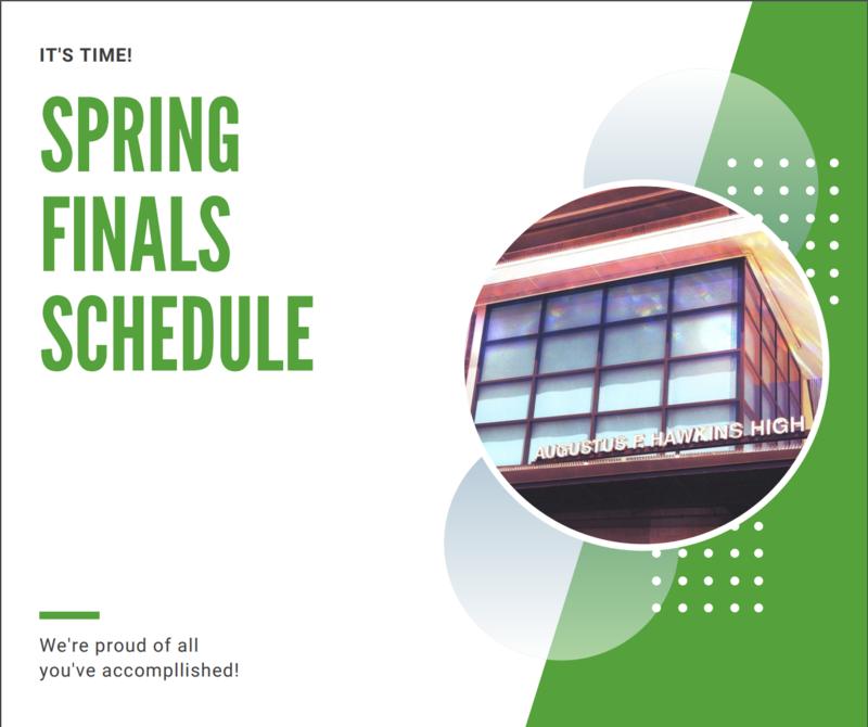 Spring Semester Finals Schedule Featured Photo