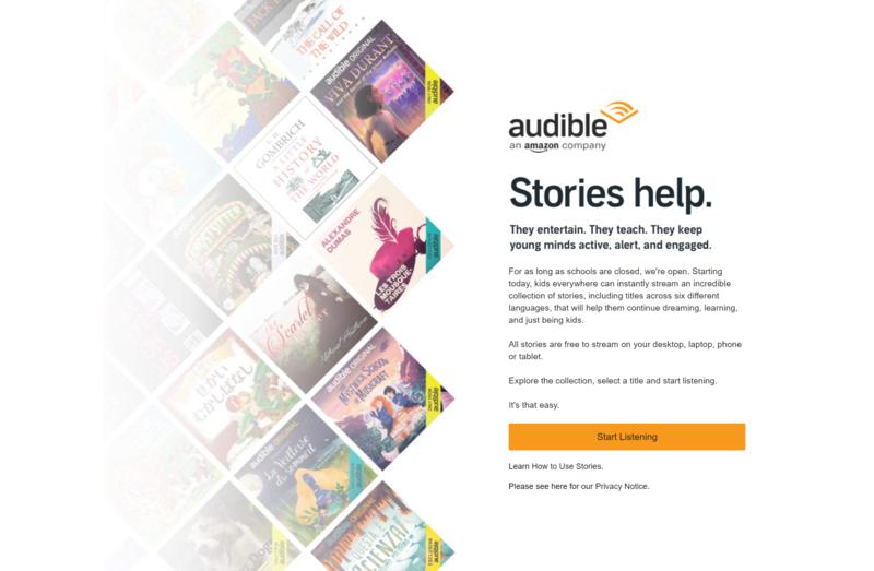 audible kids homepage