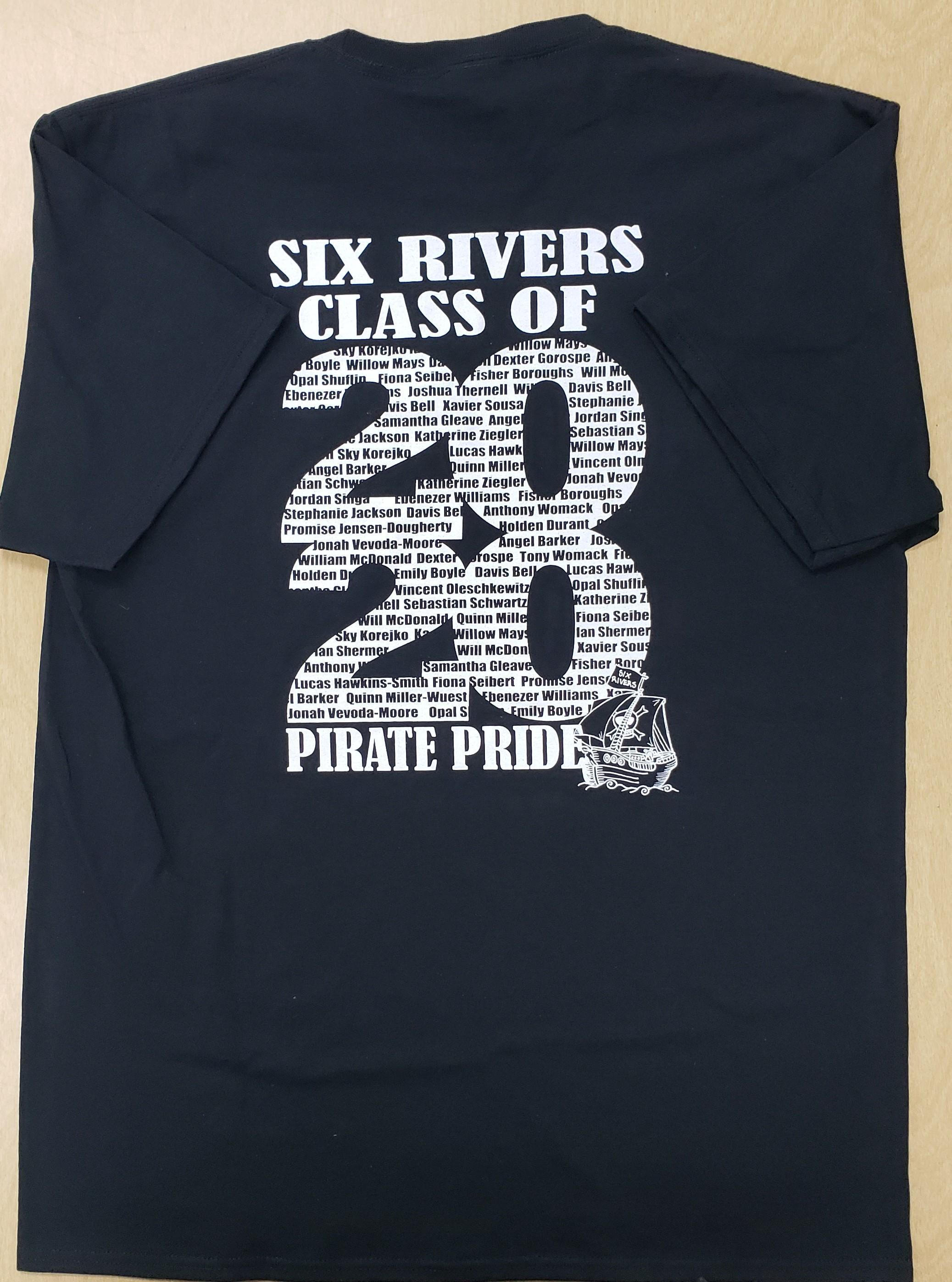 Black Shirt, White Print 'Class of 2020' - Men's Medium - Back Side