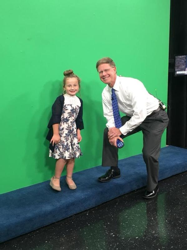 Lily-Kate and Todd Howell at WBIR