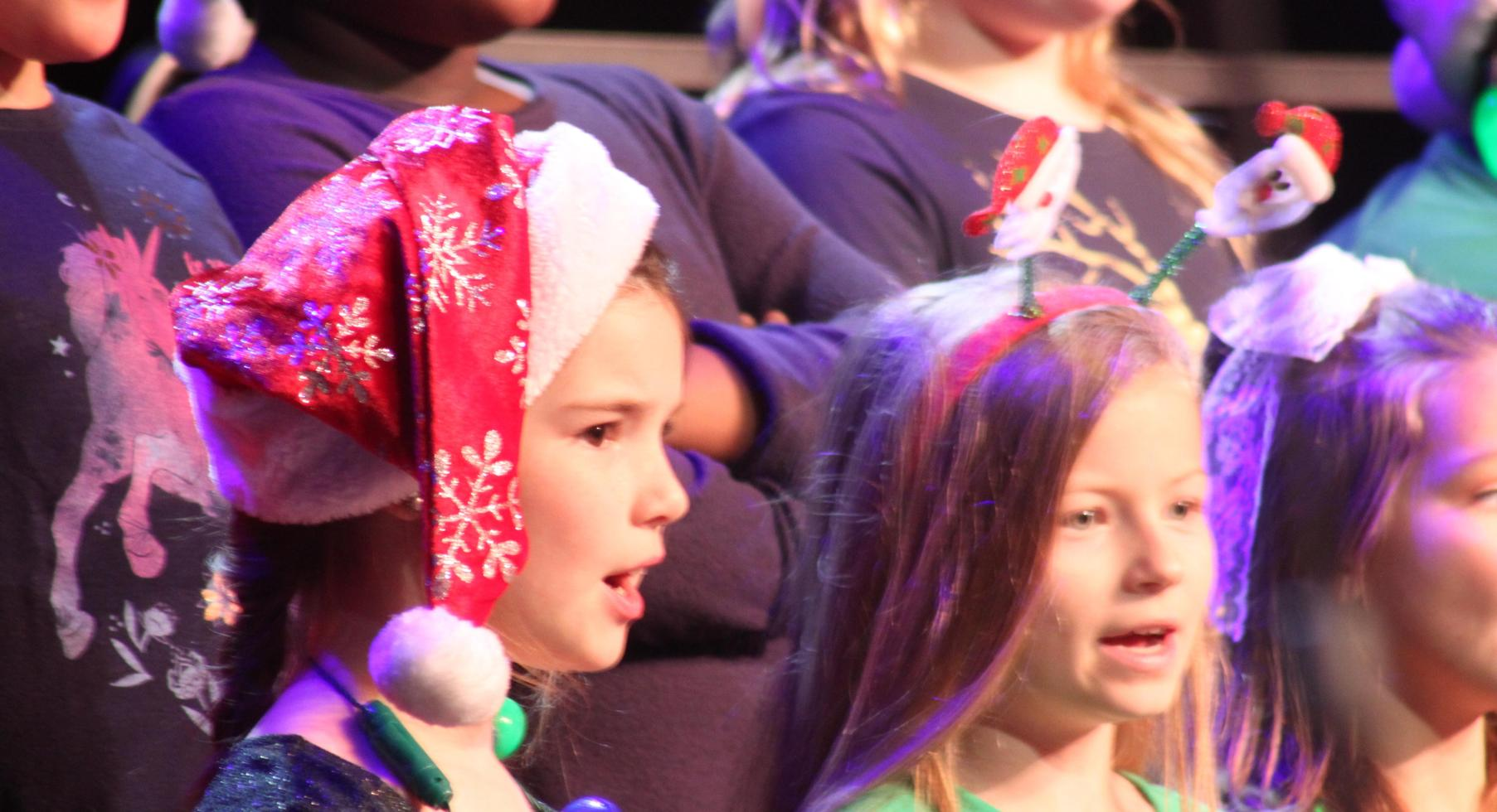 Singing at Christmas Program.
