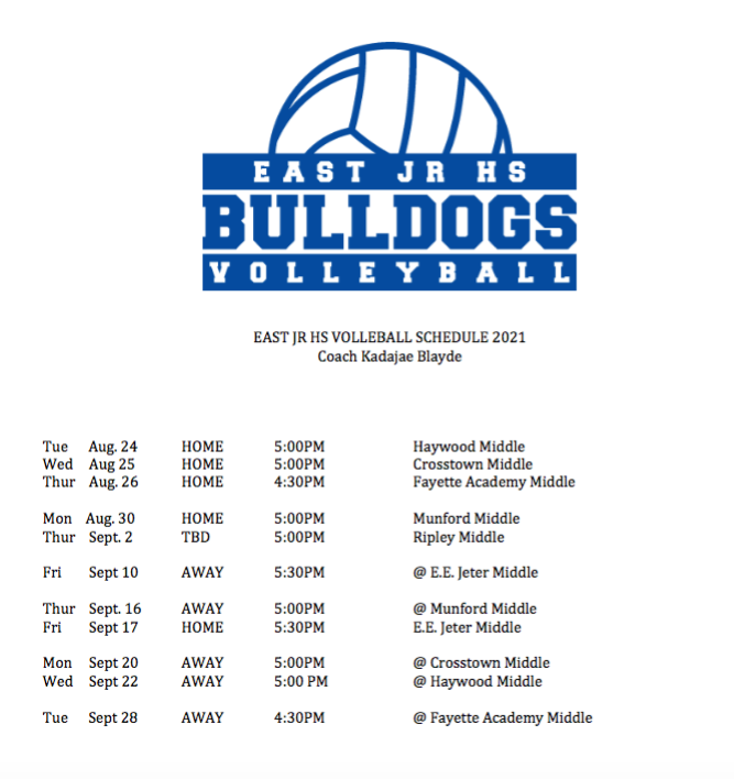 Volleyball Schedule Thumbnail Image