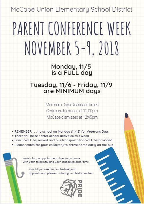 Parent Conference Week Flyer Thumbnail Image