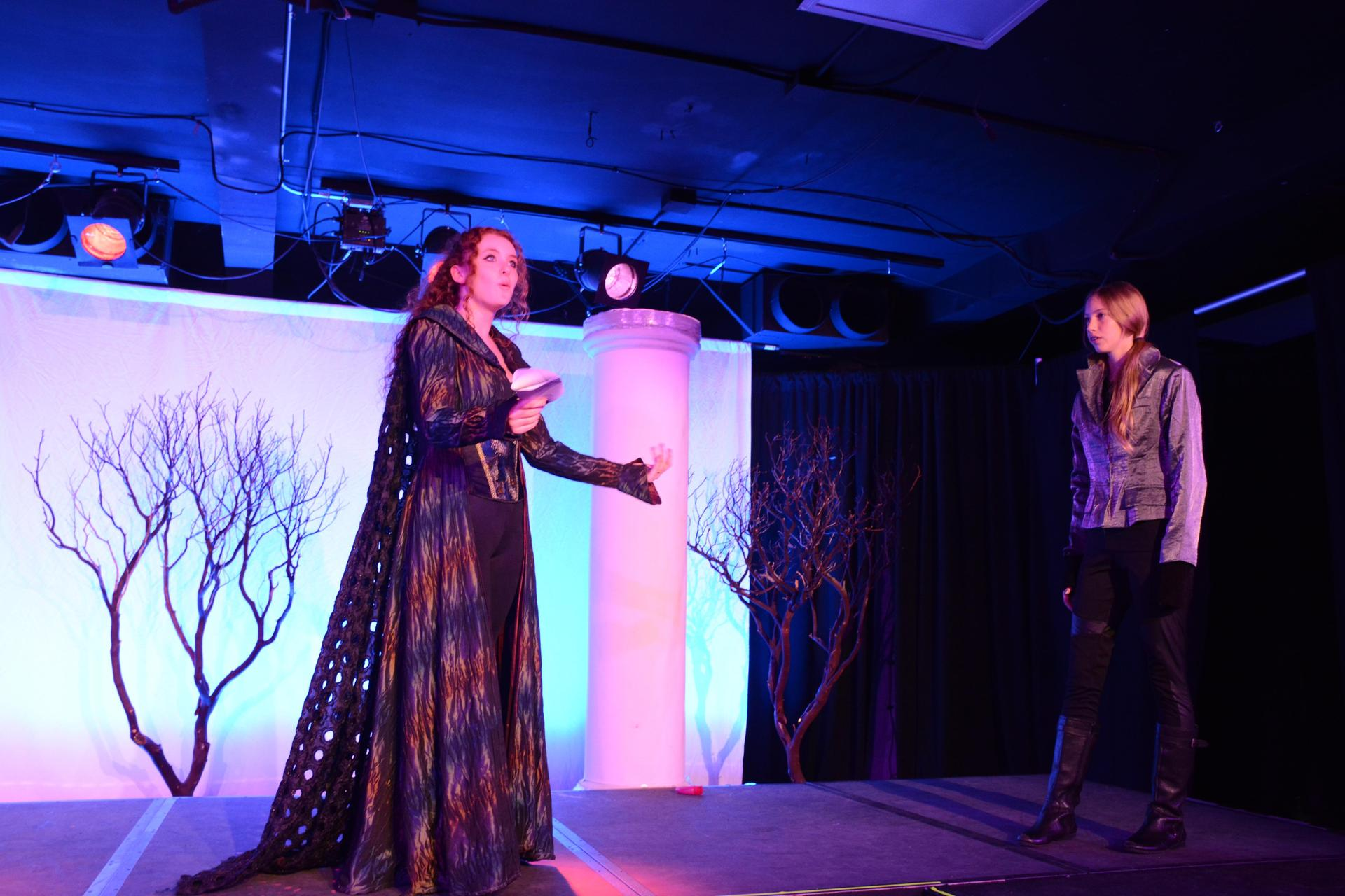 Students performing in 'Macbeth,' the 2019 fall play.