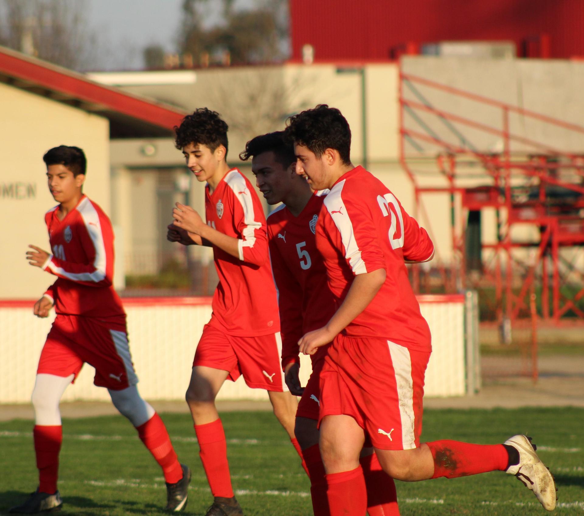 Boy's Playing Soccer vs Liberty