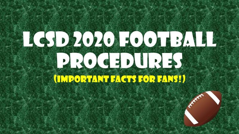 LCSD Football Game Day Procedures Graphic