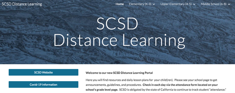 SCSD Distance Learning Image