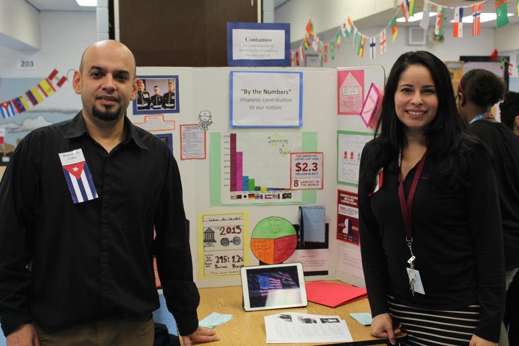 male teacher with Mrs. Fernandez