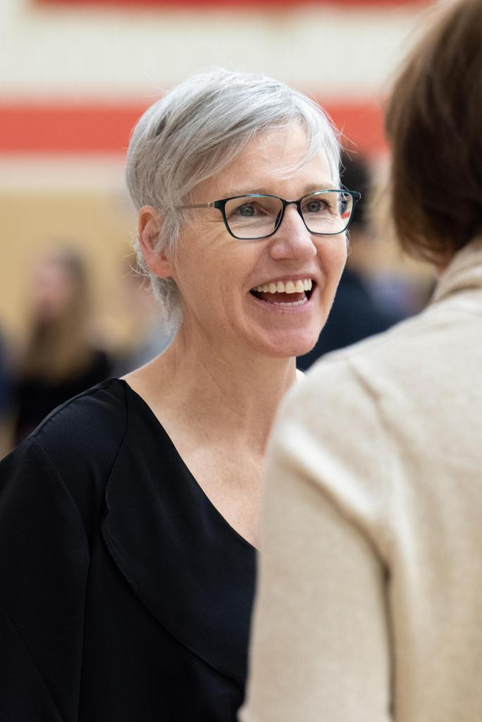 A close-up of smiling Science Director Ann Ritchie