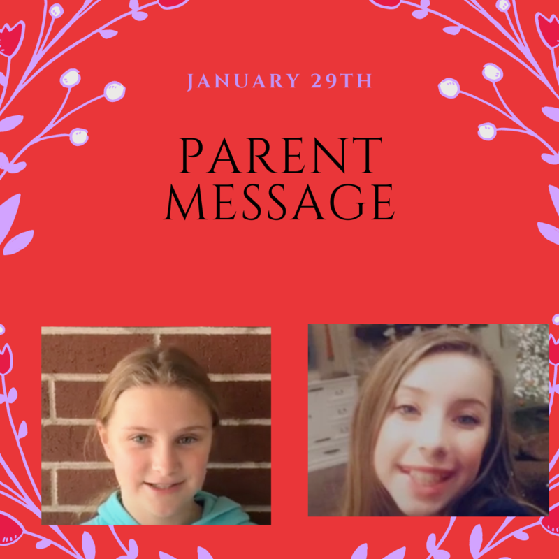 SCIS Parent Message: January 29th, 2021 Featured Photo