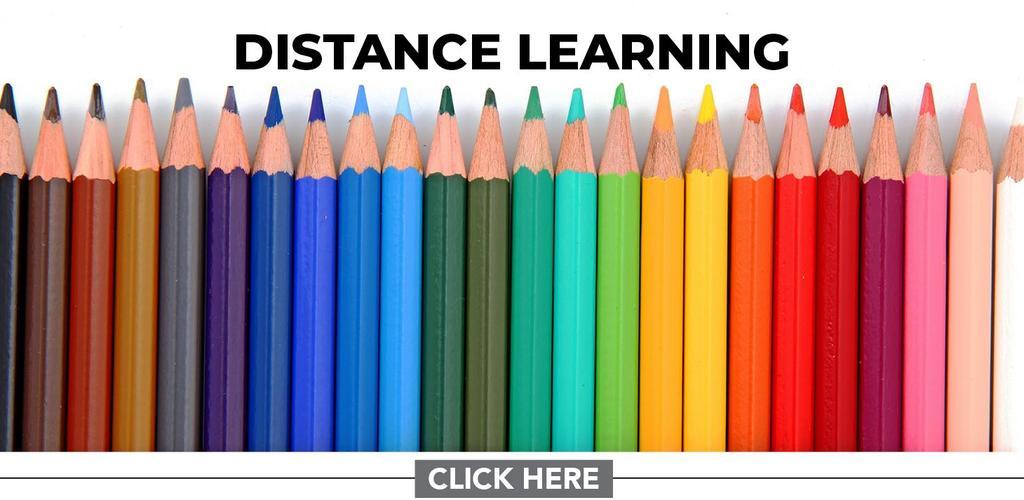 A row of color pencils