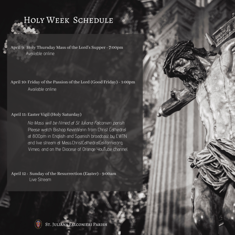 Holy Week Schedule Featured Photo