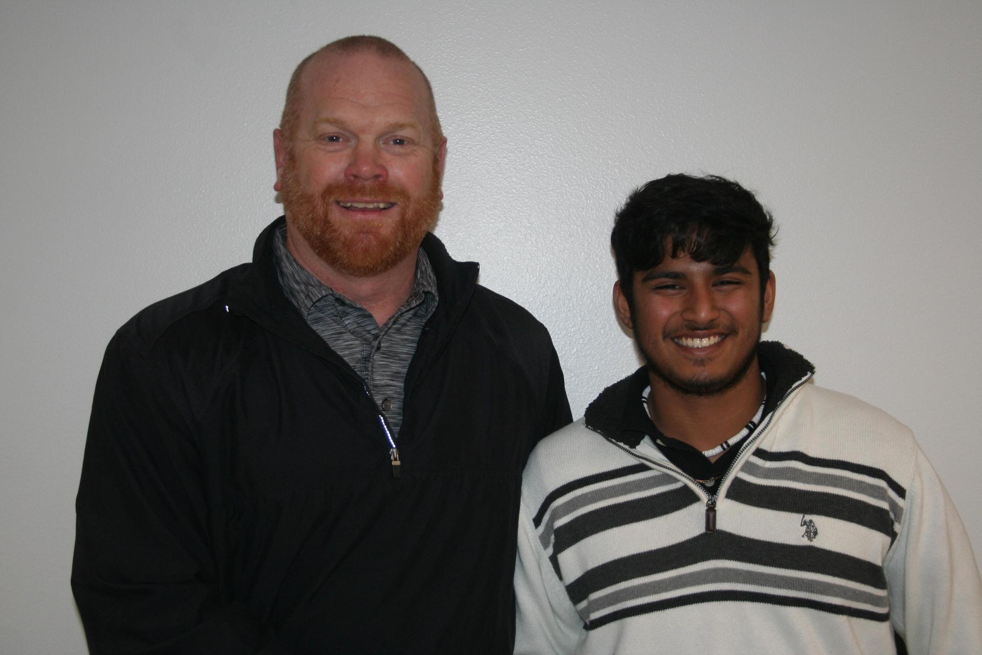 Mr. Edwards and Angel Ochoa