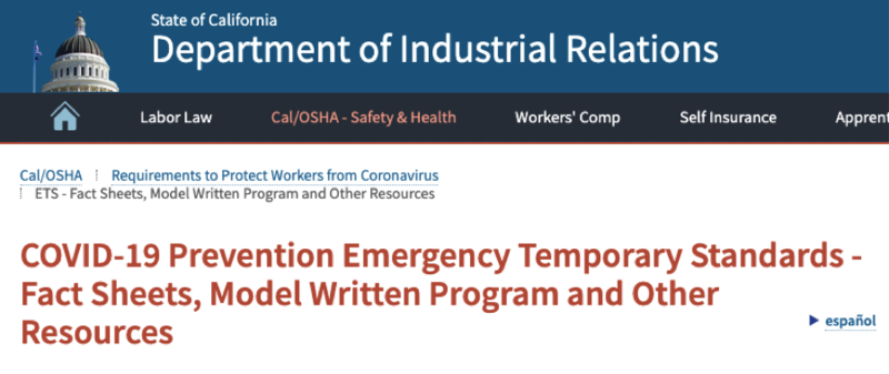 COVID-19 Prevention Program Featured Photo