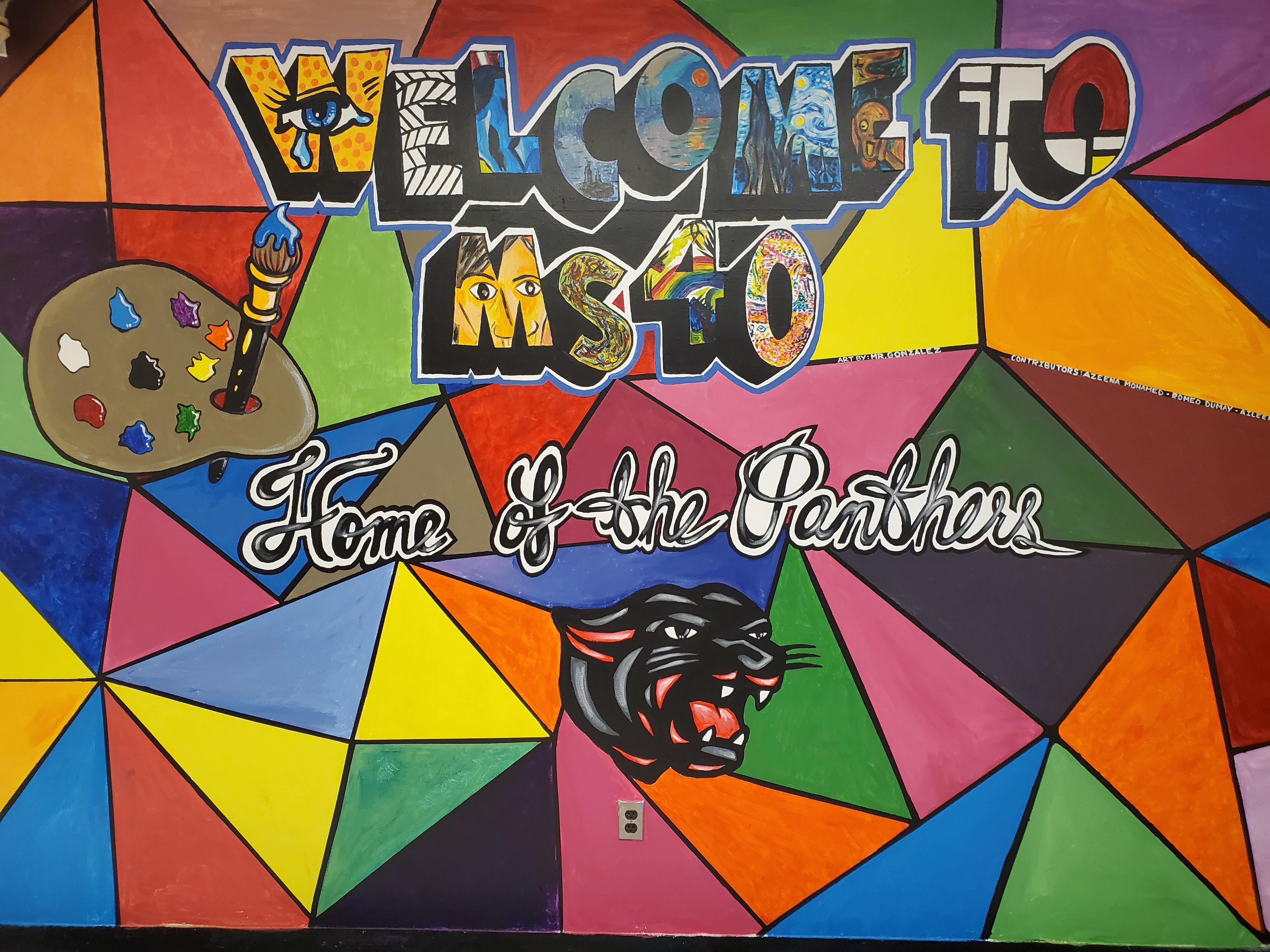 School mural.