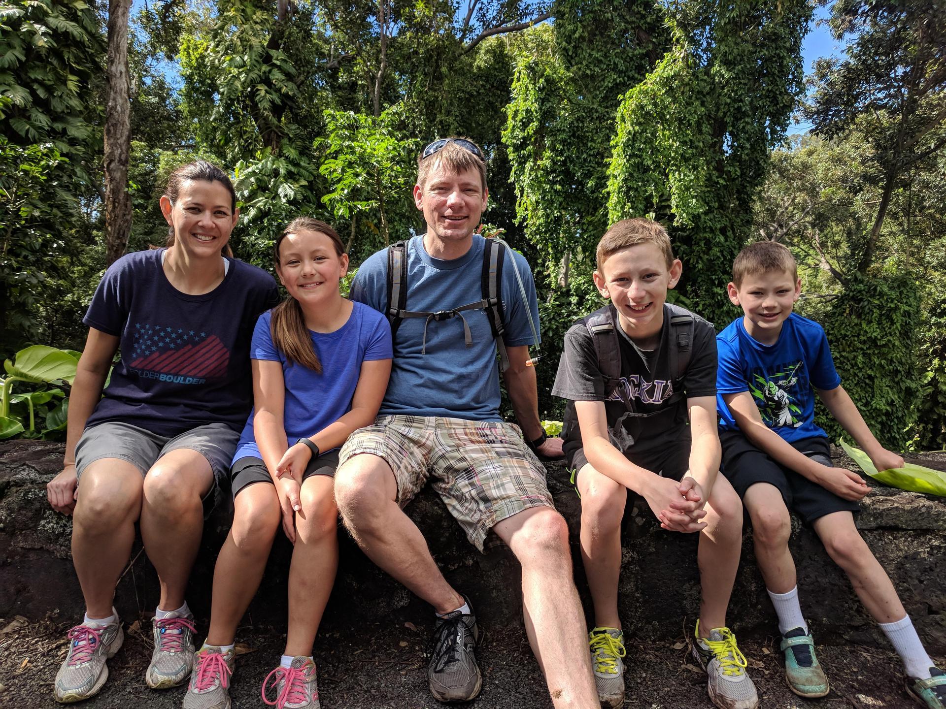 Hughes Family Hiking in Hawaii
