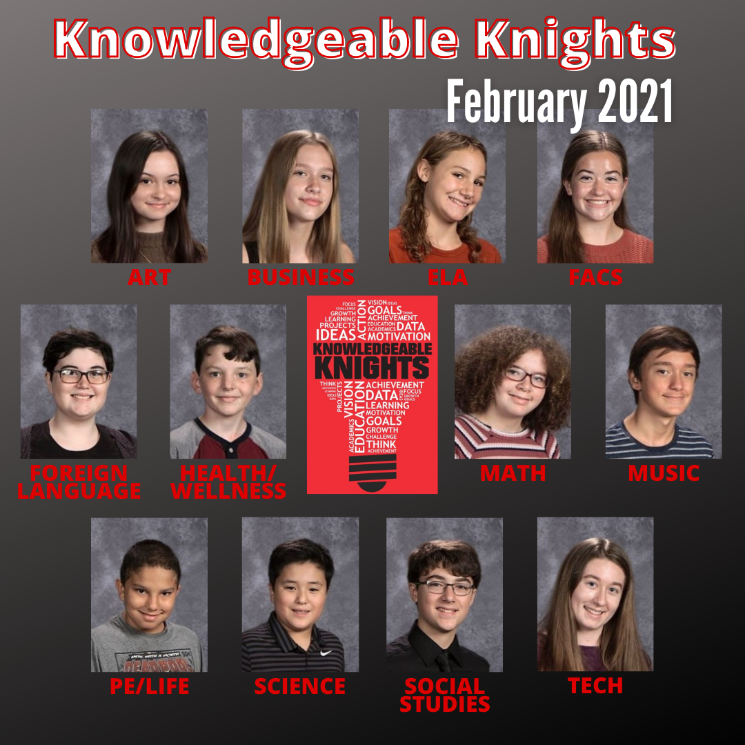 February 2021 Knowledgeable Knights
