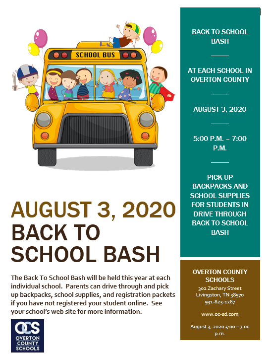 Back to school bash banner