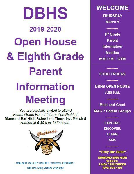 DBHS 8th Grade Parent Information Meeting and Open House Featured Photo