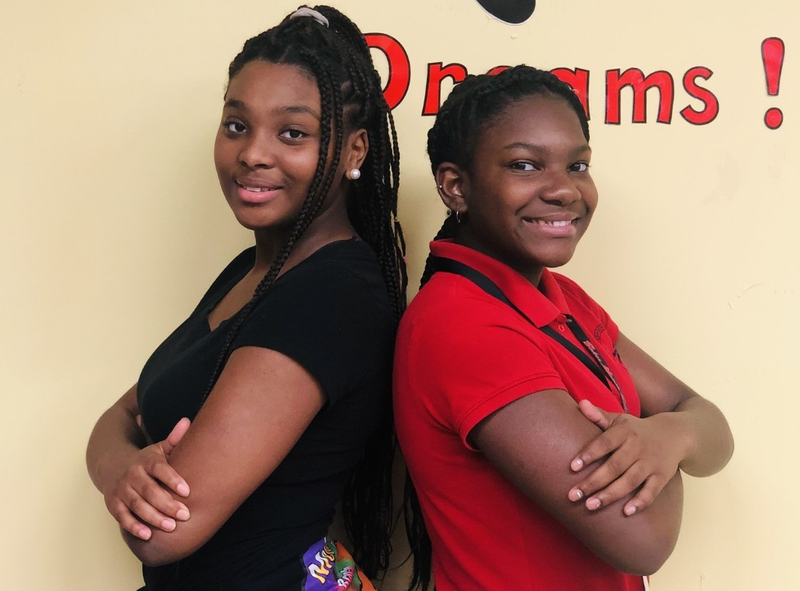 a photo of Destiny Jones, Baker Middle JAG President 2019-2020 and Tamara White, JAG President 2020-2021