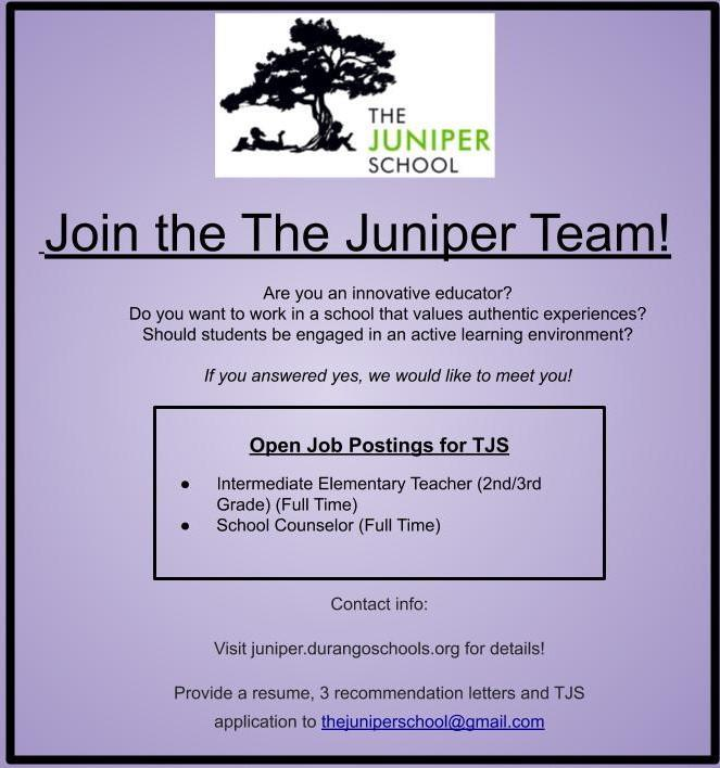 Join the Juniper Team!